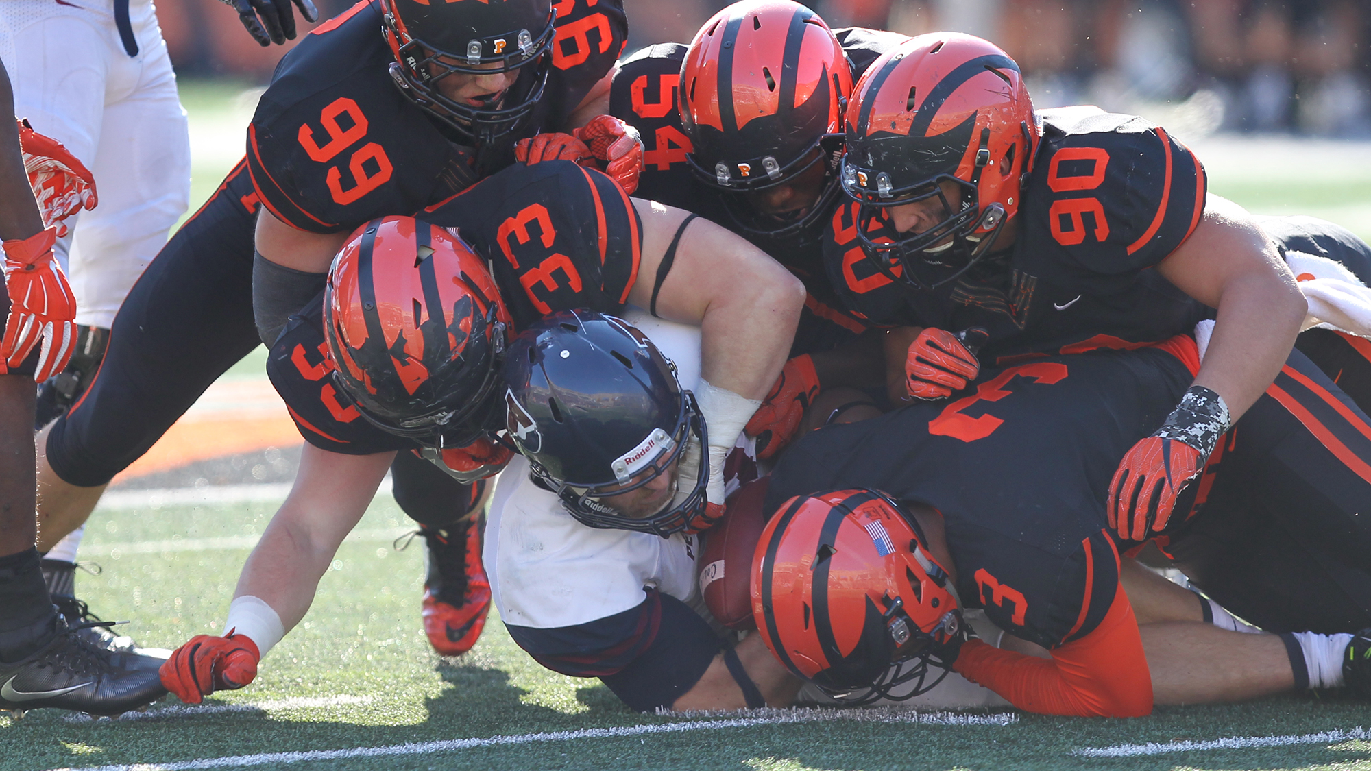 Punt Block TD, Swarming Defense Powers Princeton To 28-0 Shutout Of Penn To Stay Alive In Ivy Race